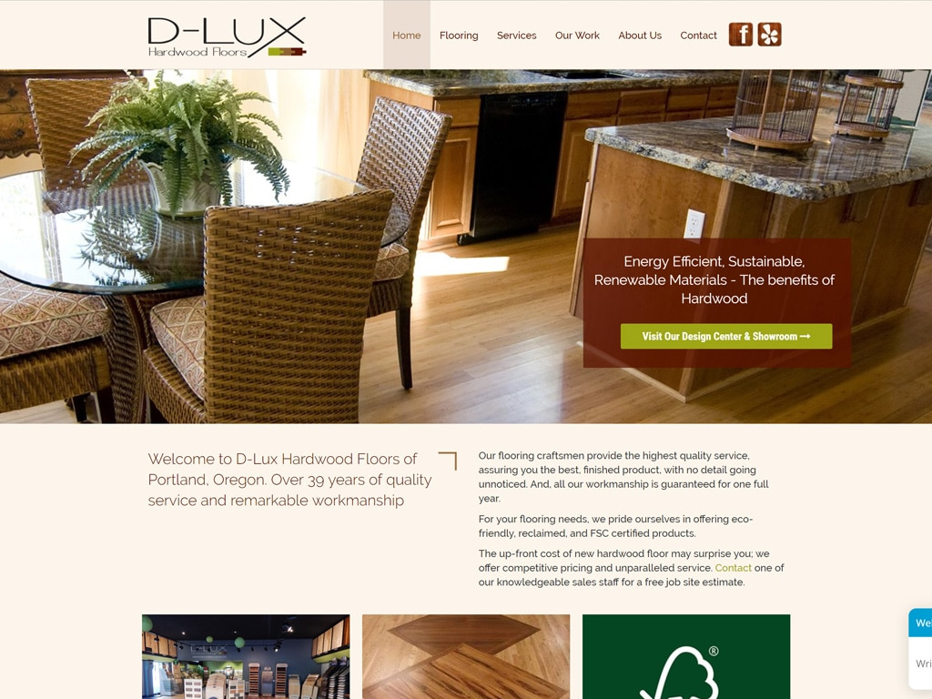 Dlux Floors Website Thumbnail