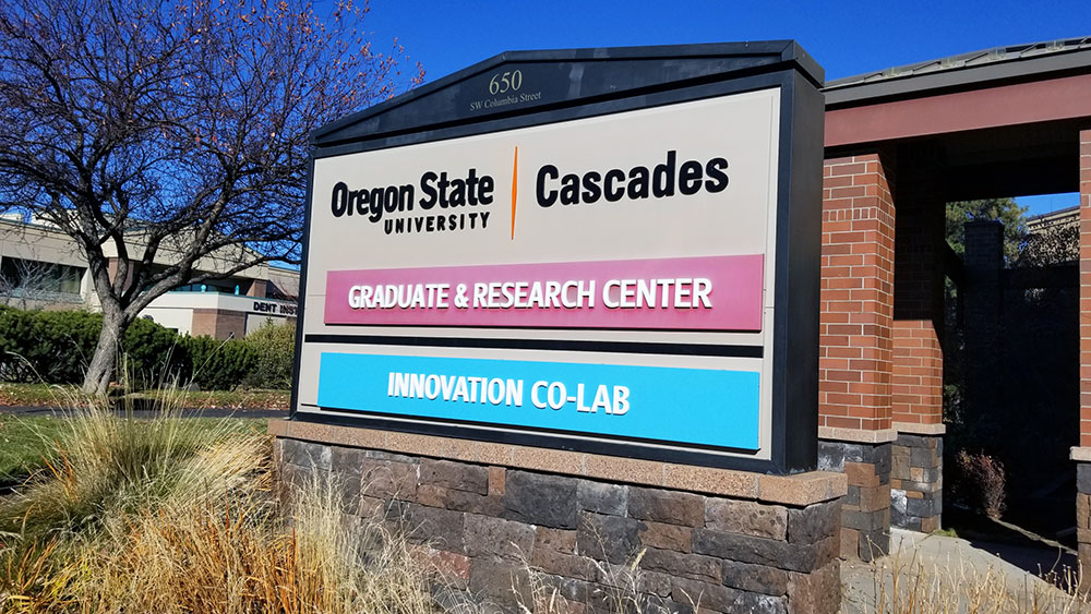 OSU-Cascades Innovation Co-lab Sign