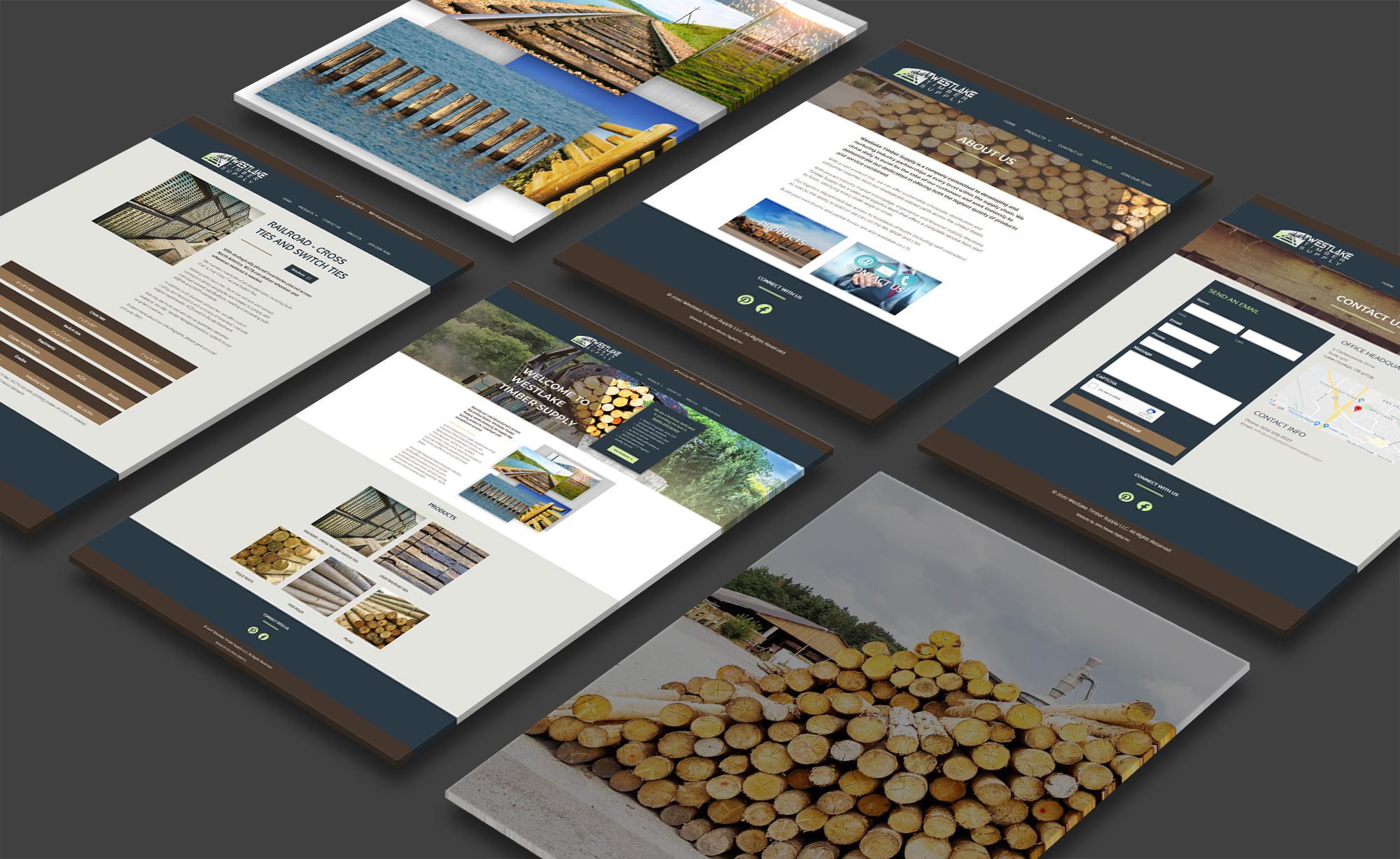 Mockup representation of Westlake Timber Supply website