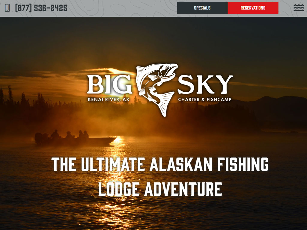 Big Sky Charter Fishcamp Website Thumbnail