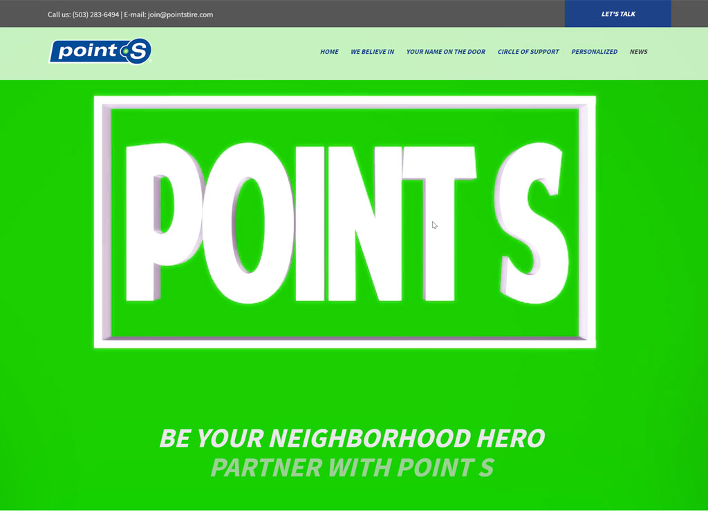 Join Point S Tire Website Development