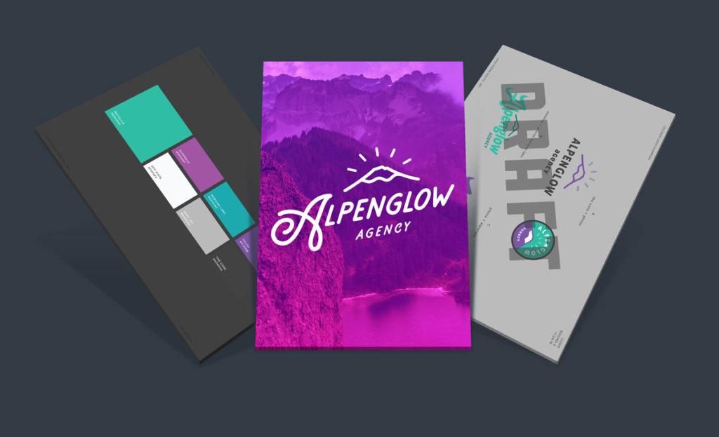 Alpenglow Agency Branding Mockups
