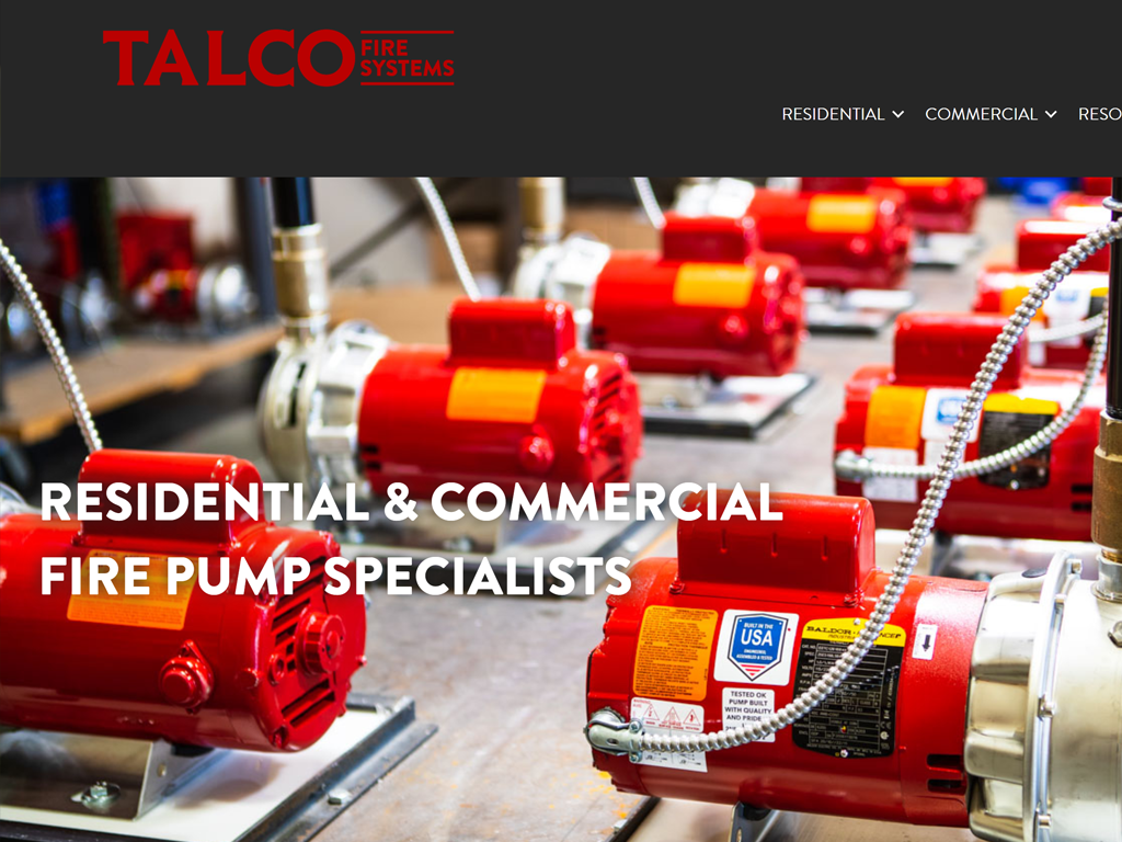 Talco Fire Systems Website Thumbnail